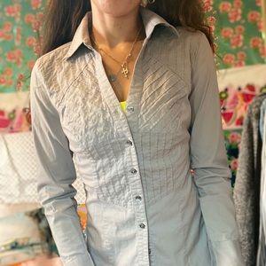 Express Essential stretch button down shirt